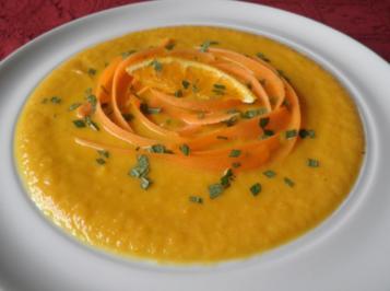 Kokos - Möhren - Orangen - Suppe - Rezept