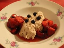 Mascarpone Ciocolata | Erdbeeren | Waldmeister - Rezept