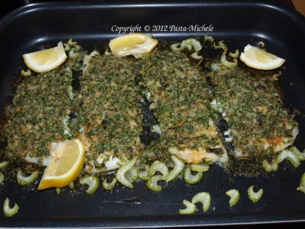 Filets vom schwarzen Heilbutt mit Kräuterkruste - Rezept - Bild Nr. 2