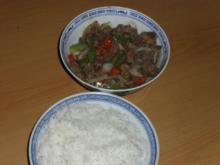 Hühnerleber asiatisch - Rezept