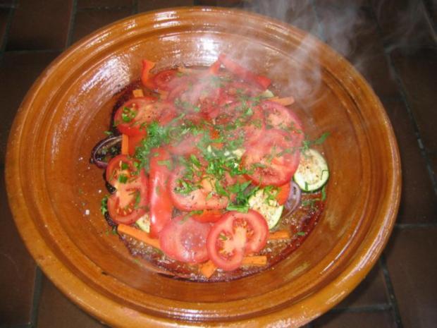 Tajine mit Lamm und Gemüse - Rezept