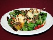 Nussiger Feldsalat mit Orangenfilets und Granatapfelsplittern - Rezept