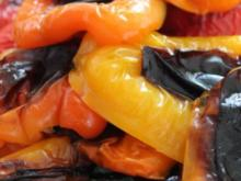 Pasta mit Sahne und gegrillter Paprika - Rezept