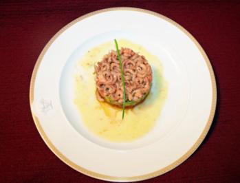 Tomate-Avocado-Nordseekrabben-Türmchen - Rezept