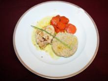 Seeteufel-Medaillons mit Graupen-Risotto und Safranschaum - Rezept