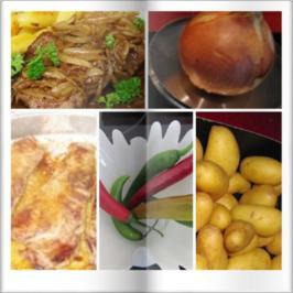 Rezept: Fleisch / Rind = Rumpsteak (Spicy) mit Zwiebel und Schwenkkartoffeln à la Biggi