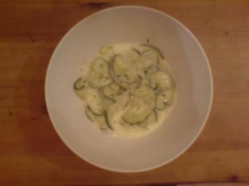cremiger gurkensalat - Rezept