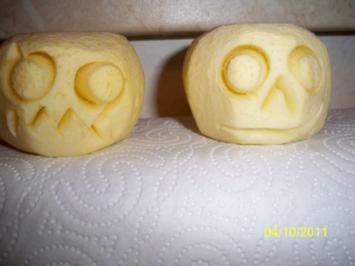 halloween:appelschrumpköppe - Rezept