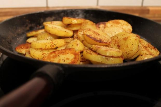 Bratkartoffeln Aus Gekochten Kartoffeln Rezept Kochbarde