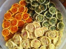 Blätterteig-Gebäck tricolori - Rezept