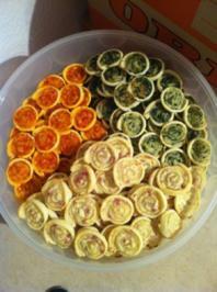 Rezept: Blätterteig-Gebäck tricolori