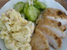 Kartoffelsalat mit Ei und Schinken - Rezept