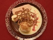Kartoffel-Quarkknödel mit Pralinenkern an Pflaumen- und Feigeneis (Jessica Wahls) - Rezept