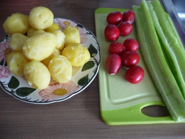 Salat : Kartoffel-Radieschen-Gurken-Salat - Rezept - Bild Nr. 4