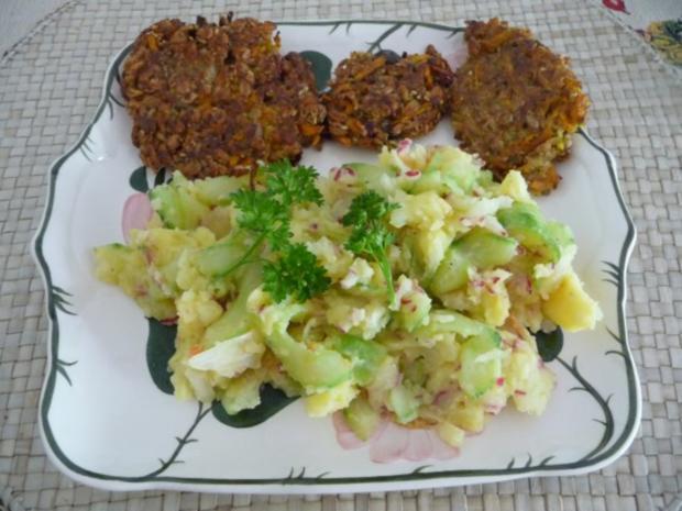 Salat : Kartoffel-Radieschen-Gurken-Salat - Rezept