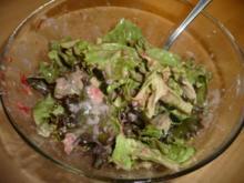 Blattsalat mit Erdbeer-Joghurt Dressing - Rezept