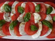 Tomate mit Mozarella ... - Rezept