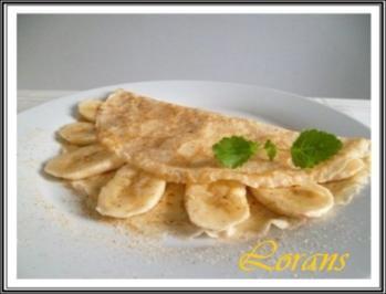 Crêpes mit Bananen und Vanillezucker - Rezept