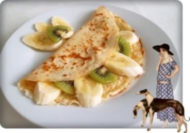 Crêpes mit Kiwi und Banane - Rezept