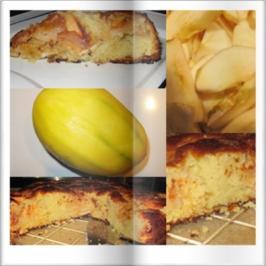 Rezept: Oma Löffel`s Kuchen = Apfelmangokuchen