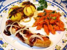 Möhrengemüse mit Thüringer Bratwurst ... - Rezept