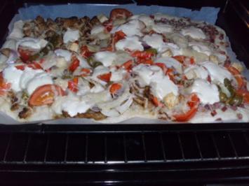 Gyros - heute mal als Pizza - - Rezept