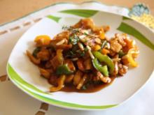 Hähnchen-Paprika-Pfanne - Rezept