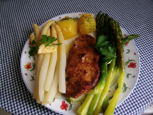 Zweierlei  Spargel mit Petersilienkartoffeln - Rezept - Bild Nr. 3