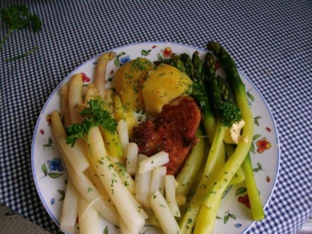 Zweierlei  Spargel mit Petersilienkartoffeln - Rezept - Bild Nr. 4
