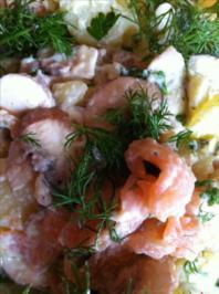 Kartoffelsalat mit Räucher- Lachs.. - Rezept