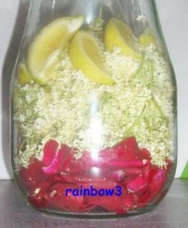 Sirup: Rosen + Holunderblüten - Rezept