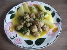 Küchenfee - Rezepte : Hackbällchen in Petersiliensoße mit Salzkartoffeln - Rezept