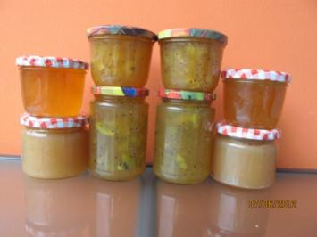 Holunderblütengelee mit Kiwis, Äpfeln oder Bananen - Rezept