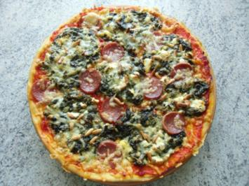 &#9829 Spinat - Pizza &#9829 - Rezept