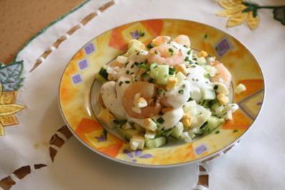 Rezept: Garnelen-Eier-Salat