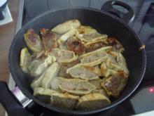 Fixe Küche : Maultaschen-Pfanne mit Salat - Rezept