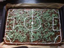 Fußball EM & WM Kuchen - Fußballfeld - Fußballplatz - Rezept