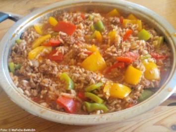 Hack-Pfanne mit Reis - Rezept