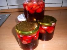 eingekochte Erdbeeren - Rezept