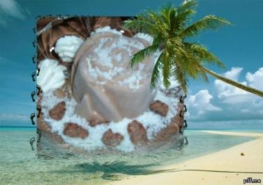 Eis : Banane - Kokos - Nougat - Rezept