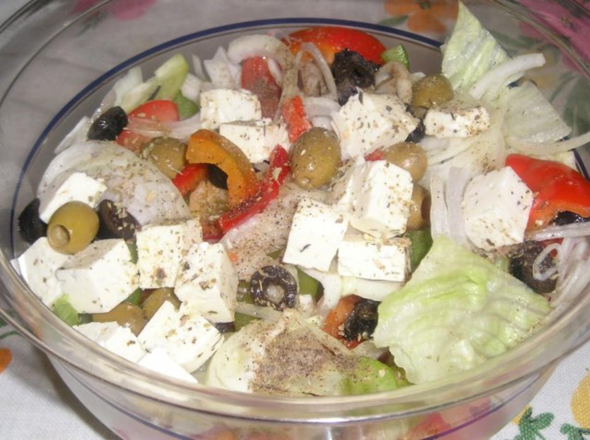 Griechischer salat mit feta rezept