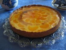 Puddingcreme - Kuchen mit Mandarinen - Rezept