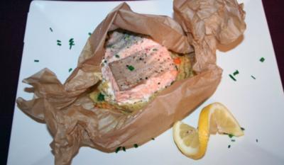 Lachs auf Couscous-Bonbon - Rezept
