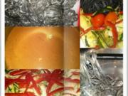 Schwarze Tagliatelle mit viel frischem Gemüse - Rezept - Bild Nr. 17