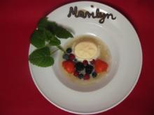 Geeiste Traubensuppe mit Halbgefrorenem vom Tresterbrand - Rezept