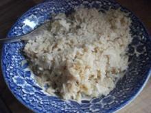 Reis mit Erdnuss-Sauce - Rezept