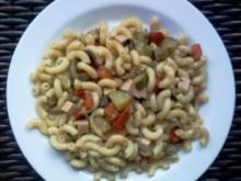 Nudelsalat mit gebratenem Gemüse - Rezept