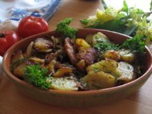 Bratkartoffeln mit viel Zwiebel - Rezept