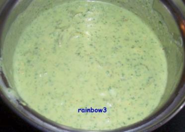 Kochen: Grüne Käse-Sahne-Sauce - Rezept