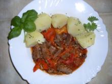 Gulasch von der Rindshuft - Rezept